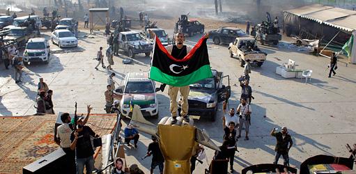 Rebeldes celebran en Libia