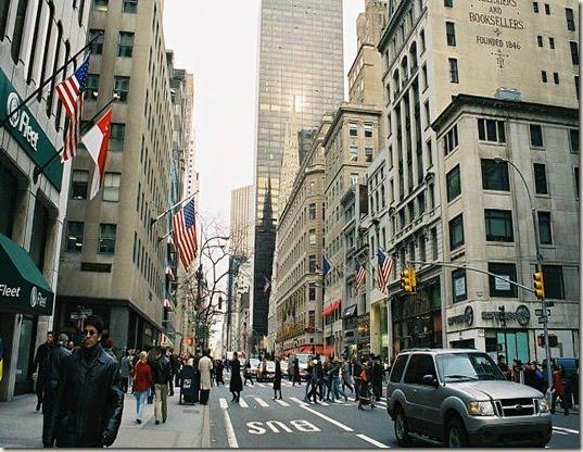 Nueva York lidera ranking de las principales calles comerciales del mundo