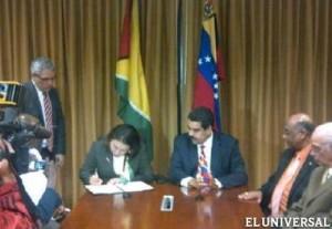 Cancilleres de Guayana y Venezuela