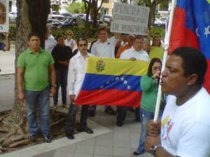Protestan venezolanos en Miami