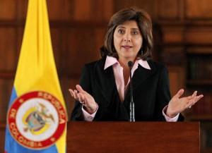 Canciller colombiana María Angela Holguin