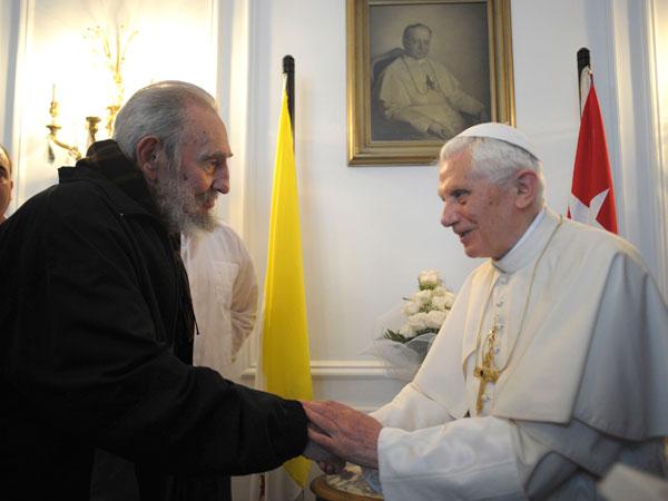 El Papa se reúne con Fidel Castro en La Habana