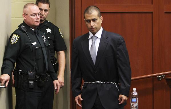 George Zimmerman en el juzgado