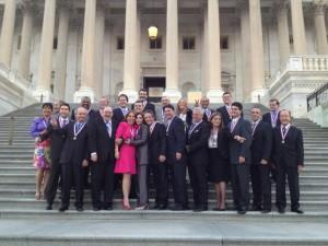 Momento inolvidable de los venezolanos en el Capitolio de USA