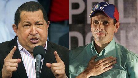 Hugo Chavez y Henrique Capriles