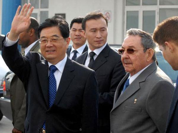 Castro y Hu Jintao