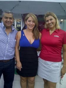 Jairo Cuba,  Elizabeth León y Evelyn Alcalá