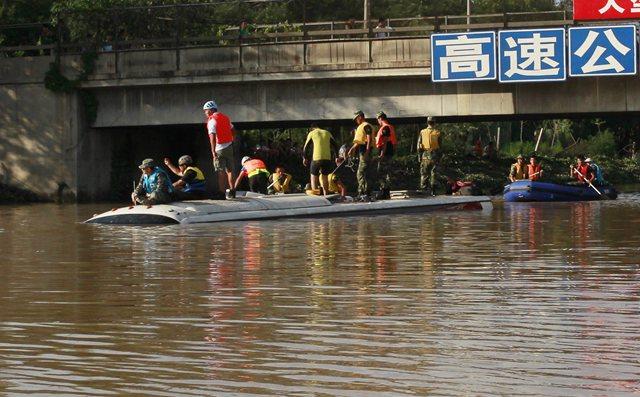 Lluvias en Pekin