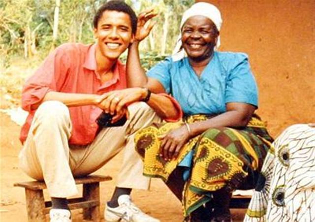 Obama en Kenia durante su juventud