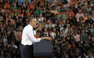 Obama en foto de archivo durante su última visita a Miami
