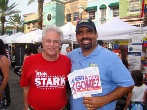 El representante estadal Rick Stark y el comisionado de Weston Angel Gomez
