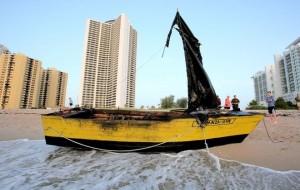 Balsa cubana llega al Sur de la Florida