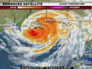 Imagen satelital de Isaac