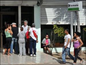 Banco en La Habana