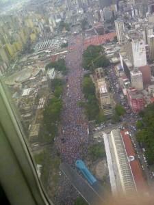 Mas de un millon de personas reunió Capriles en Caracas