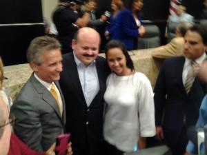 Alcalde Boria con directivos de la emisora venezolana Rumbera Network