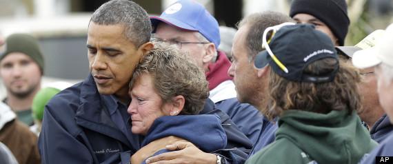 Obama en labor humanitaria