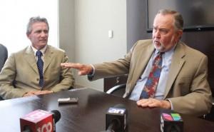 El alcalde Boria con el administrador Merret Stierheim