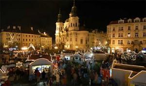 Mercado navideno en Praga