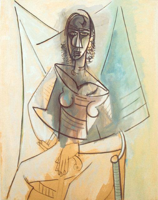 'Mujer sentada', de Wifredo Lam