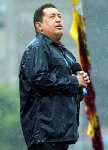 Chavez bajo la lluvia