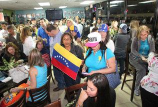 Venezolanos en El Arepazo