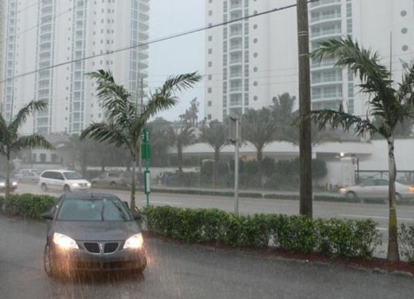 Lluvias en Miami