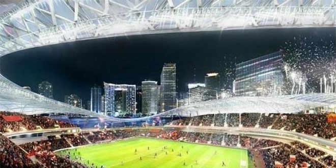 Presentan el proyecto del estadio de fútbol de David Beckham